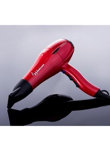 Ventoso V8 Turbo 5000 Slim Fit Profesyonel Fön Makinesi - 2300 W Kırmızı